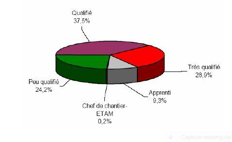 statistiques niveaux de formation plombiers